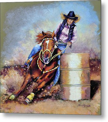 Barrel Rider Metal Print by Susan Jenkins