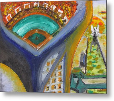 Baseball Heaven Metal Print by Keith Cichlar