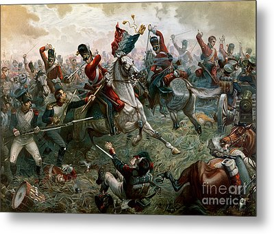 Battle Of Waterloo Metal Print by William Holmes Sullivan