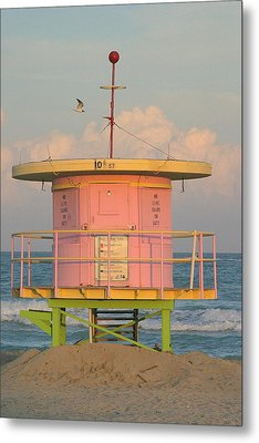 Beach Shack Metal Print by Donald Tusa