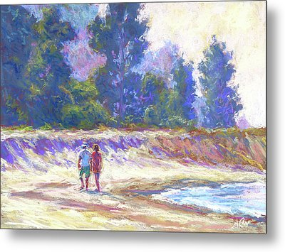 Beachcombing Metal Print by Michael Camp