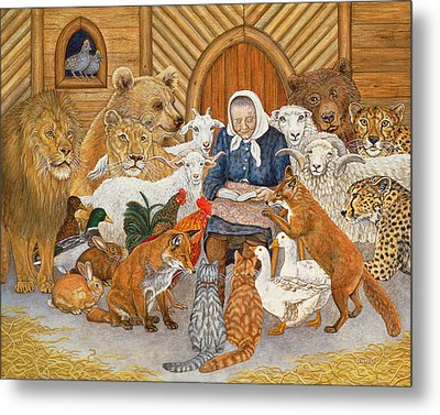 Bedtime Story On The Ark Metal Print by Ditz