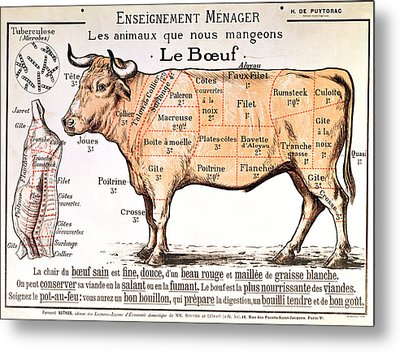 Beef Metal Print by French School