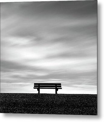 Bench, Long Exposure Metal Print by Kees Smans