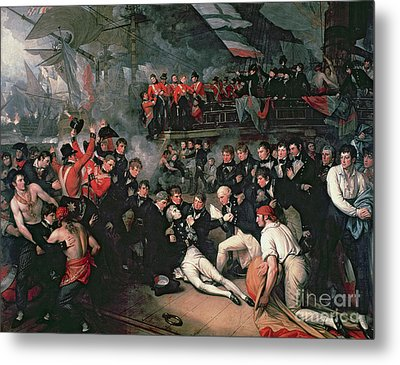 Benjamin West Metal Print by The Death of Nelson