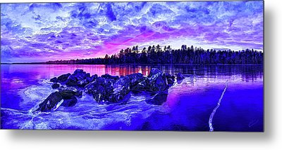 Black Ice At Twilight Metal Print by Bill Caldwell -        ABeautifulSky Photography