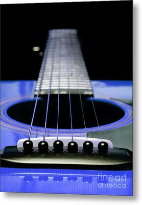 Blue Guitar 14 Metal Print by Andee Design