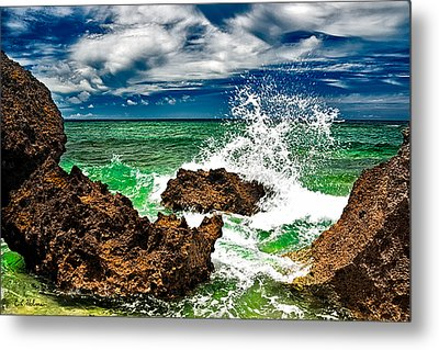 Blue Meets Green Metal Print by Christopher Holmes