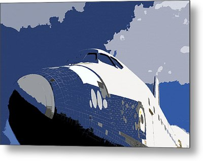 Blue Sky Shuttle Metal Print by David Lee Thompson