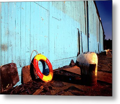 Blue Yellow And Red Metal Print by Peter OReilly