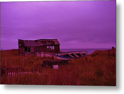 Boat Shed Blues Metal Print by Stuart Parnell