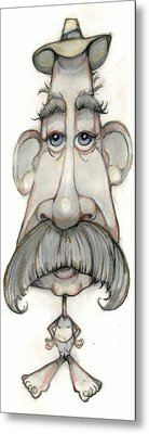 Bobblehead No 65 Metal Print by Edward Ruth