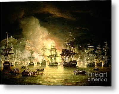 Bombardment Of Algiers Metal Print by Thomas Luny