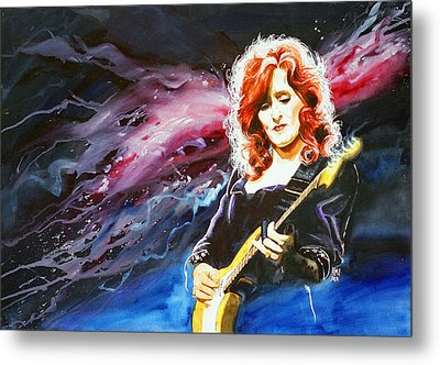 Bonnie Raitt Metal Print by Ken Meyer jr