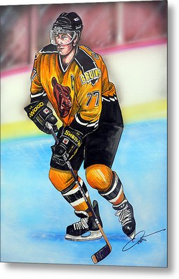 Boston Bruins Ray Bourque Metal Print by Dave Olsen