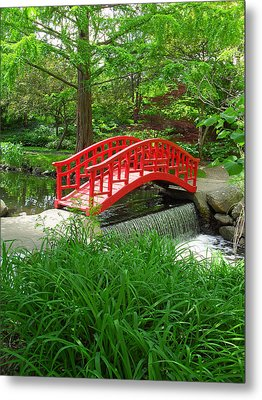 Metal Print featuring the photograph Bridge In The Woods by Rodney Campbell