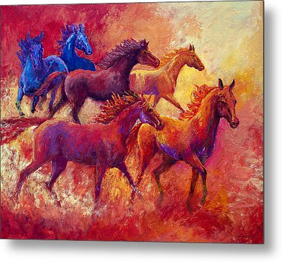 Bring The Mares Home Metal Print by Marion Rose