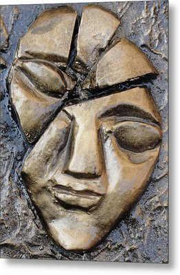 Broken Face Metal Print by Rajesh Chopra