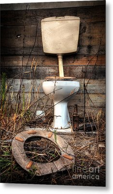 Broken Toilet Metal Print by Carlos Caetano