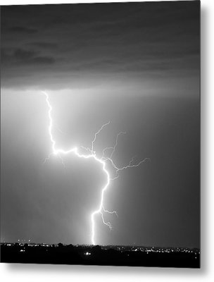 C2g Lightning Strike In Black And White Metal Print by James BO  Insogna