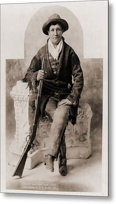 Calamity Jane 1852-1903, Was A Scout Metal Print by Everett
