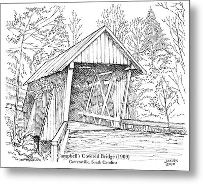 Campbell's Covered Bridge Metal Print by Greg Joens