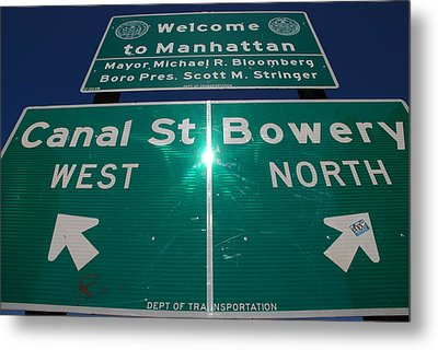 Canal And Bowery Metal Print by Rob Hans