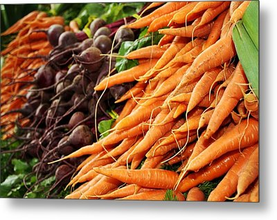 Carrots And Beets Metal Print by Cathie Tyler