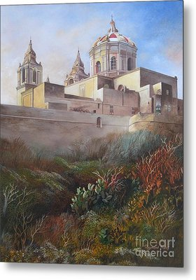 Cathedral Mdina Metal Print by Raymond Frans
