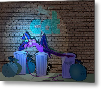 Catwoman In The Spotlight Metal Print by Lynn Rider