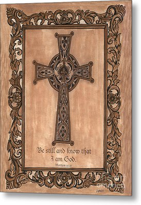 Celtic Cross Metal Print by Debbie DeWitt