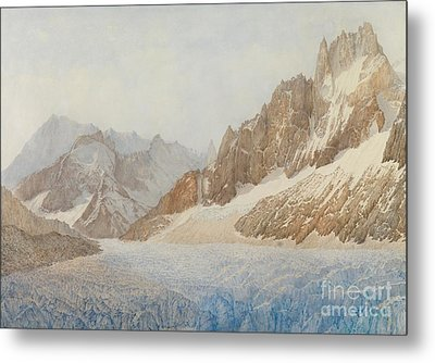 Chamonix Metal Print by SIL Severn