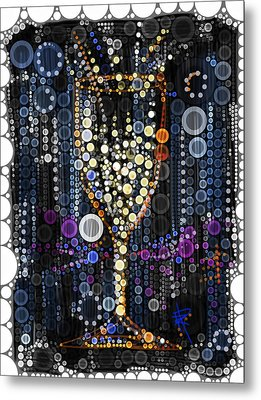 Champagne Flute Metal Print by Russell Pierce
