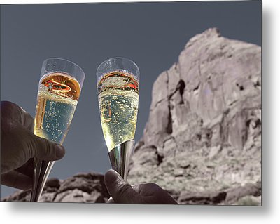 Champagne Wish Metal Print by Angie Wingerd