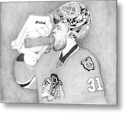 Championship Goalie Metal Print by Kiyana Smith