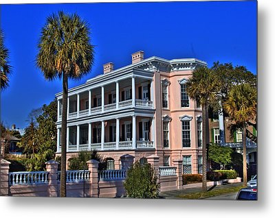 Charlston Battery Mansion Metal Print by Corky Willis Atlanta Photography