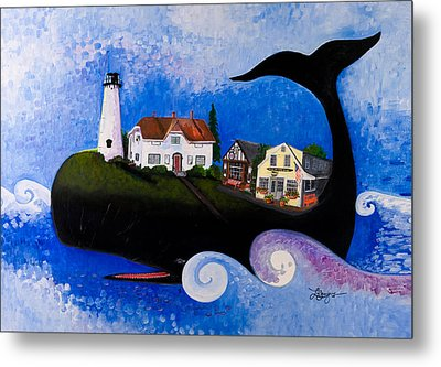 Chatham - A Whale Of A Town Metal Print by Theresa LaBrecque