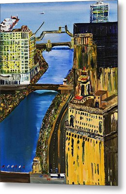 Chicago River Skyline Metal Print by Gregory A Page