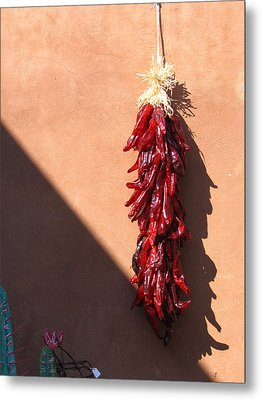 Chili Peppers Metal Print by Denise Keegan Frawley