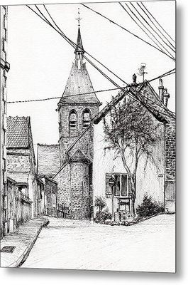 Church In Laignes Metal Print by Vincent Alexander Booth