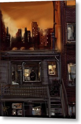 City Sunset Metal Print by Russell Pierce