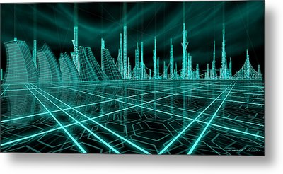 Cityscape 2010 Alpha Metal Print by James Christopher Hill
