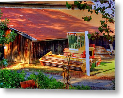 Clarkburg Combine Metal Print by Randy Wehner Photography