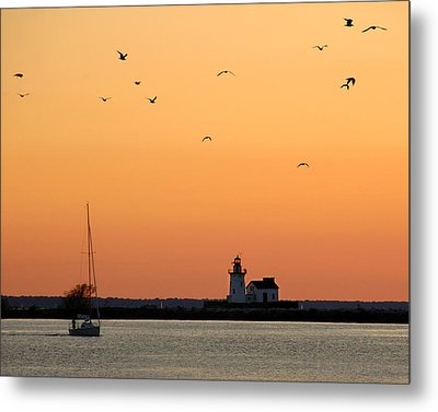 Cleveland Harbor Sunset Metal Print by Jon Holiday