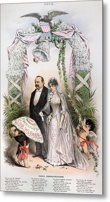 Clevelands Wedding, 1886 Metal Print by Granger