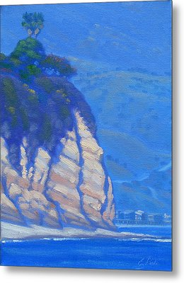 Cliffs At Point Dume Metal Print by Elena Roche