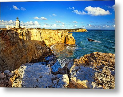 Cliffs Of Cabo Rojo At Sunset Metal Print by George Oze