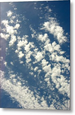 Cloud Clusters Metal Print by Kimberly Morin