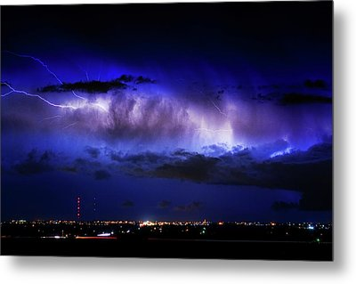 Cloud To Cloud Lightning Boulder County Colorado Metal Print by James BO  Insogna
