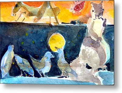 Collection Of Critters Metal Print by Mindy Newman